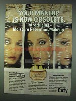 1978 Coty Moisture Rentention Makeup Ad - Obsolete
