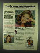 1978 Clairol Happiness Haircolor Ad - Never Colored