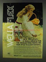 1978 Wella Wellaflex Hair Spray Ad - Small Miracle