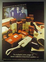 1978 Ted Lapidus Mens Toiletries Ad - New Range