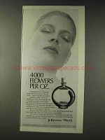 1978 Worth Je Reviens Perfume Ad - 4000 Flowers Per Oz.