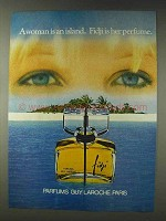 1978 Guy Laroche Fidji Perfume Ad - Woman is An Island