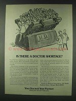 1978 American Medical Association Ad - Doctor Shortage