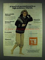1978 Stresstabs 600 Vitamins Ad - Touch of Womanhood