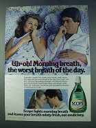 1978 Scope Mouthwash Ad - Uh-oh! Morning Breath!
