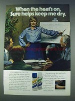 1978 Sure Deodorant Ad - When the Heat's On