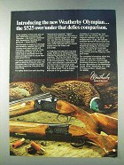 1978 Weatherby Olympian Shotgun Ad - Defies Comparison