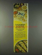 1978 Blue Ribbon Almonds Ad - Fisherman's Wharf