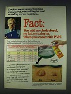 1978 Pam Cooking Spray Ad - Add No Cholesterol