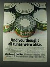 1978 Chicken of the Sea Tuna Ad - Thought All Alike