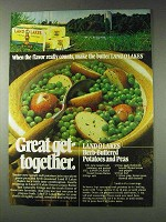 1978 Land O Lakes Butter Ad - Herb-buttered Peas