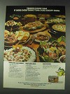 1978 Hormel Tender Chunk Ham Ad - Hearty Chef's Salad