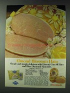1978 Hormel Cure 81 Ham & Blue Diamond Almonds Ad