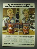 1978 Folger's and Folger's Flaked Coffee Ad