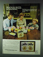 1978 C.W. Post Family Style Cereal Ad - Bill and Sue