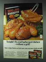 1978 Shake 'n Bake Barbecue Style Ad - Tonight!
