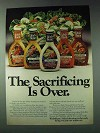 1978 Wish-Bone Low Calorie Salad Dressing Ad - Sacrificing Over