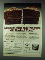 1978 Hershey's Cocoa Ad - Which Chocolate Cake