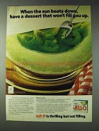 1978 Jell-O Lime Gelatin Ad - Melon Cooler Recipe