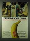 1978 Dole Bananas Ad - Preserve Your Curve
