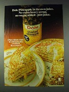 1978 Dole Crushed Pineapple Ad - Crepe