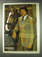 1978 Davidsons Bill Blass Sports Jacket Ad