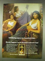 1978 Playtex Support Can be Beautiful Underwire Bras Ad