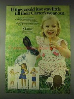 1978 Carter's Playwear Ad - If They Could Stay Little