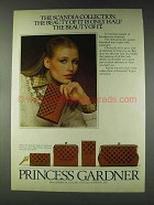 1978 Princess Gardner Scandia Stasher/Checkbook Ad