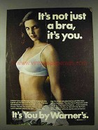 1978 Warner's It's You Bra Ad - It's Not Just a Bra