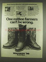 1978 Wolverine Boots Ad - One Million Farmers
