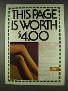 1978 Hanes Alive Support Pantyhose Ad - This Page Worth