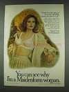 1978 Maidenform Fitting Pretty Soft Cup 7531 Bra Ad