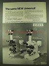 1978 Zeiss 1978 Universal Microscope and accessories Ad
