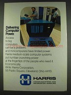 1978 Harris S-110 Computer System Ad - Power