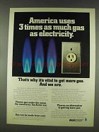 1978 AGA American Gas Association Ad - 3 Times As Much
