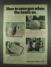1978 AGA American Gas Association Ad - How to Save