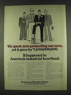 1978 American Electric Power Ad - Promoting Our Area