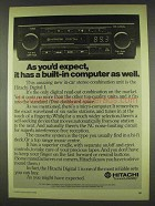 1978 Hitachi Digital 1 Car Cassette Deck / Radio Ad