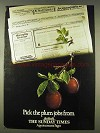 1978 The Sunday Times Ad - Pick The Plum Jobs From