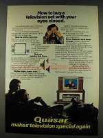 1978 Quasar Television Ad - Buy With Your Eyes Closed