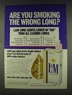 1978 L&M Cigarettes Ad - Smoking the Wrong Long?