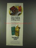 1978 Saratoga 120's Cigarettes Ad - Smoking Longer