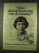 1978 Vantage Cigarettes Ad - After All That's Been Said