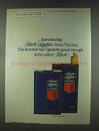 1978 Viceroy Cigarettes Ad - Rich Lights