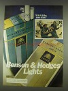 1978 Benson & Hedges Lights Cigarettes Ad