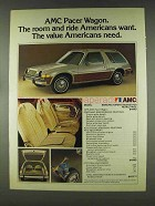 1978 AMC Pacer Wagon Ad - Room and Ride