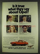 1978 Buick Opel Ad - Is It True What They Say?