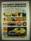 1979 Chevy Chevette Ad - Lot for the Money