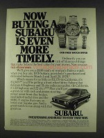 1978 Subaru Car Ad - Buying is Even More Timely